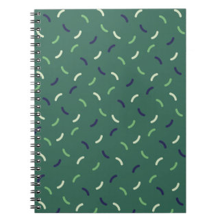 Very British graphic train and bus seat patterns Notebook