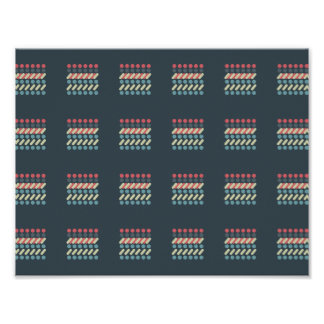 Very British graphic train and bus seat patterns Poster