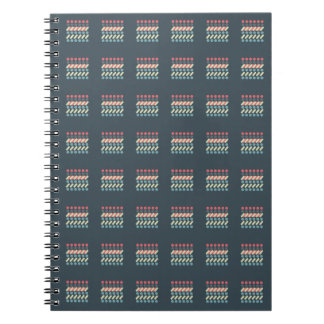 Very British graphic train and bus seat patterns Spiral Notebooks