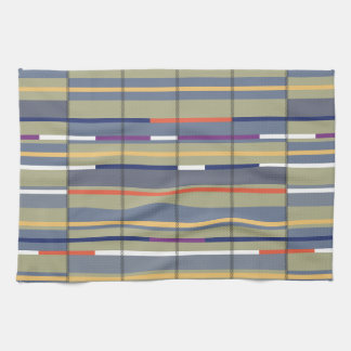 Very British graphic train and bus seat patterns Towel