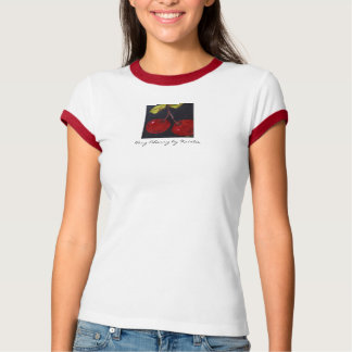 Very Cherry by Kristie Custom Ringed T-shirt