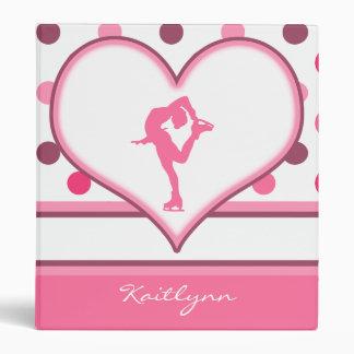 Very Cherry Polka-Dots Lots of Pink Figure Skater Vinyl Binder