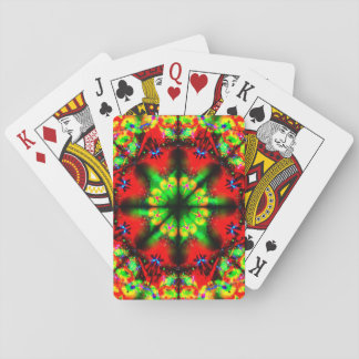 Very Colorful Illusion Mandala Playing Cards