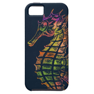 Very colourful seahorse art iPhone 5 cover