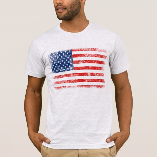 Very Cool Distressed American Flag T-Shirt
