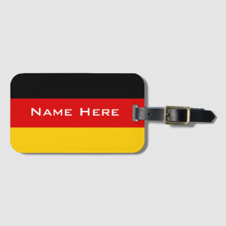 Very Cool Flag Of Germany With Monogram Luggage Tag