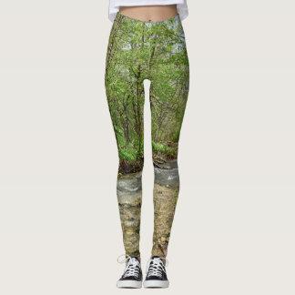 Very Cool Forest Stream Print Leggings