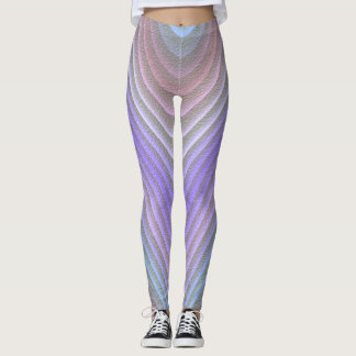 Very Cool Modern abstract Purple Waves Pattern Leggings