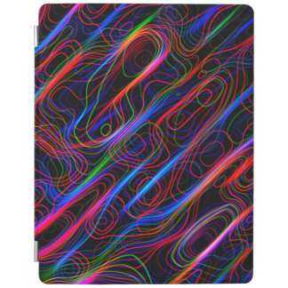 VERY COOL Neon Multicolored Curved Lines iPad Cover