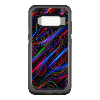 VERY COOL Neon Multicolored Curved Lines OtterBox Commuter Samsung Galaxy S8 Case