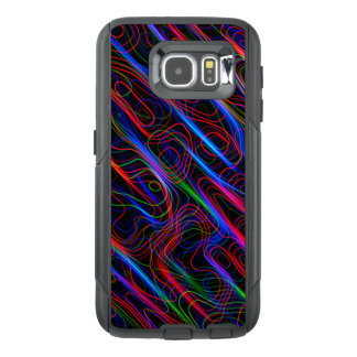 VERY COOL Neon Multicolored Curved Lines OtterBox Samsung Galaxy S6 Case