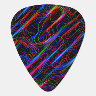 VERY COOL Neon Multicolored Curved Lines Pick