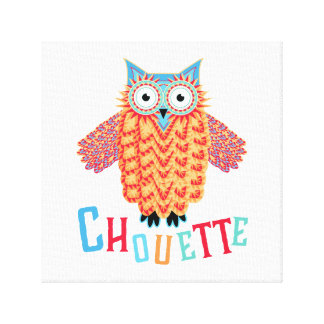 Very Cool Owl French Pun Canvas Print