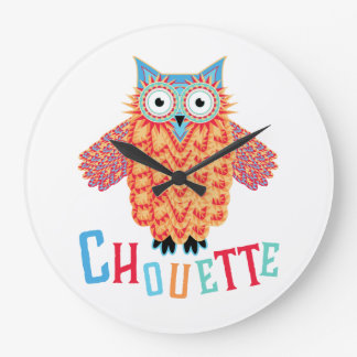 Very Cool Owl French Pun Wall Clock