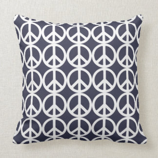 VERY COOL PEACE SIGN PRINT THROW PILLOW