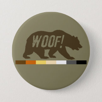 Very Cool Woof Gay Bears Pride Flag 3 Inch Round Button