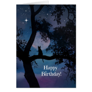 Very Cute Cat Birthday Card, Wishes come True! Card