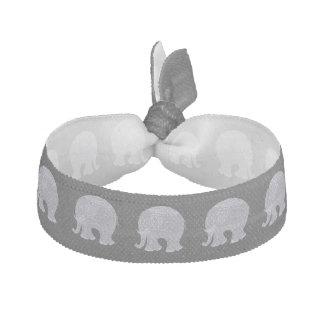 Very cute gray doodle elephant hair tie