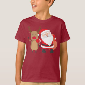 Very Cute Santa Claus and Reindeer | Shirt