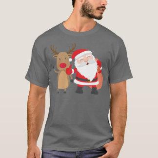 Very Cute Santa Claus and Reindeer | Shirt