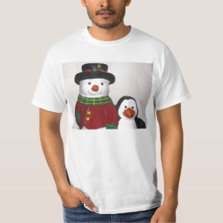 Very Cute Snowman and Friend T-Shirt