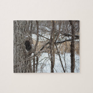 Very difficult tree forest winter scene puzzle