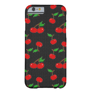 Very Dotty Cherry in Black Barely There iPhone 6 Case