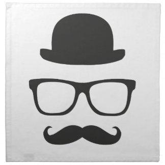 Very English Moustache Napkin