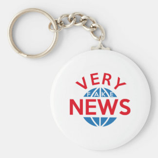 Very Fake News Keychain