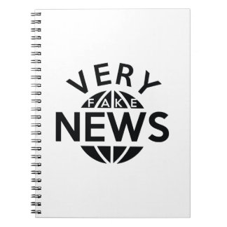Very Fake News Spiral Note Books