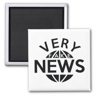 Very Fake News Square Magnet