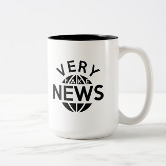 Very Fake News Two-Tone Coffee Mug