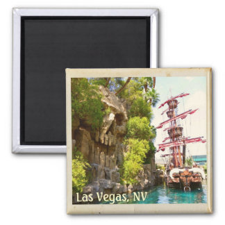 Very Funky Las Vegas Magnet! Square Magnet