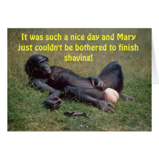 Very Funny Bonobo Ape Greeting Card
