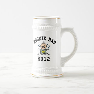 Very Funny New Rookie Dad 2012 T-Shirts Beer Stein
