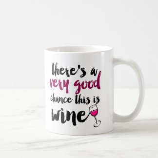 Very Good Chance This is Wine Coffee Mug