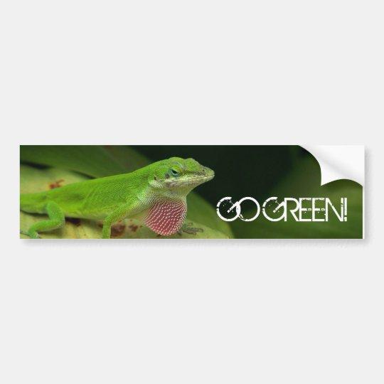 Very Green Lizard, GO GREEN! Bumper Sticker