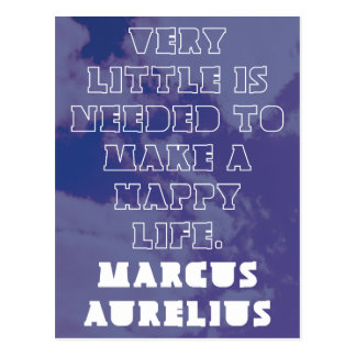 'Very little is needed to make a happy life' Postcard