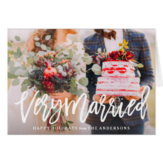 Very Married Folded Holiday Greeting Card