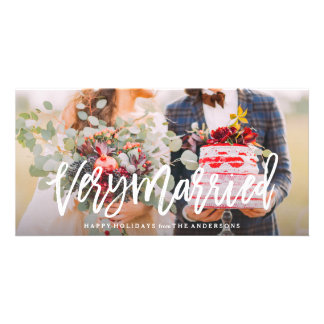 Very Married Personalized Photo Card