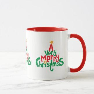 Very Merry Christmas 11 oz Combo Mug