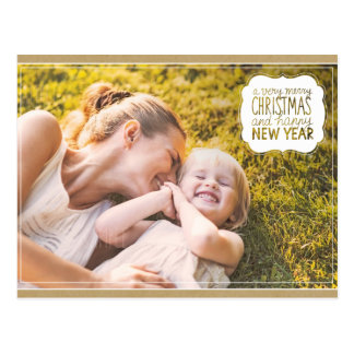 Very Merry Christmas & Happy New Year Post Card