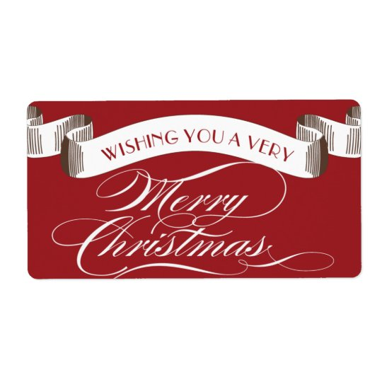 Very Merry Christmas Label
