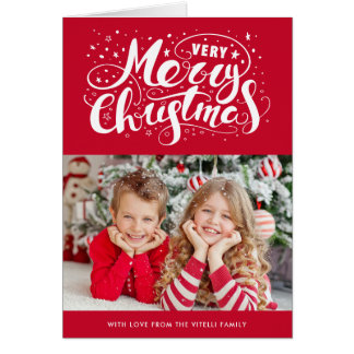 Very Merry Christmas Photo Holiday Greeting Card