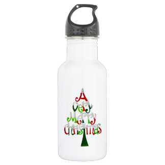 Very Merry Christmas Tree 532 Ml Water Bottle