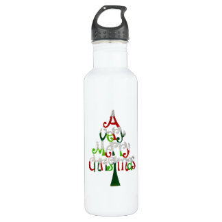 Very Merry Christmas Tree 710 Ml Water Bottle