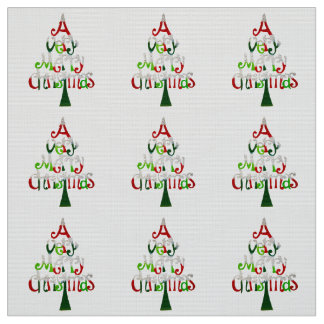 Very Merry Christmas Tree Fabric