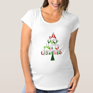 Very Merry Christmas Tree Maternity T-Shirt
