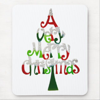 Very Merry Christmas Tree Mouse Pad