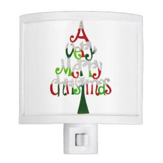 Very Merry Christmas Tree Night Lites